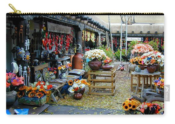 Carry-all Pouch featuring the photograph Rainbow Man Courtyart by Joseph R Luciano