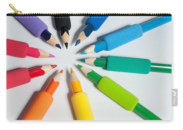 Rainbow Of Crayons Carry-all Pouch