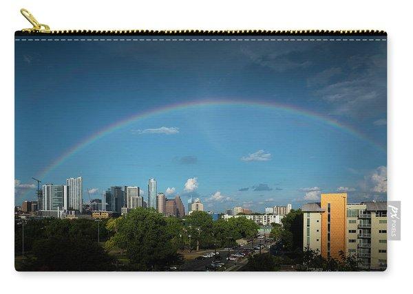 Rainbow Over Austin Carry-all Pouch