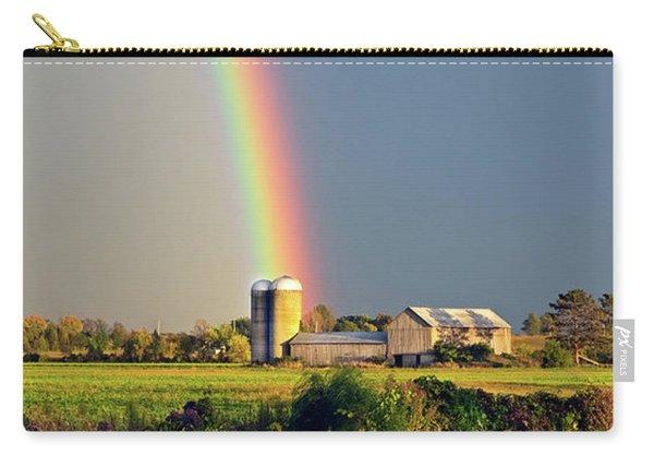 Rainbow Over Barn Silo Carry-all Pouch