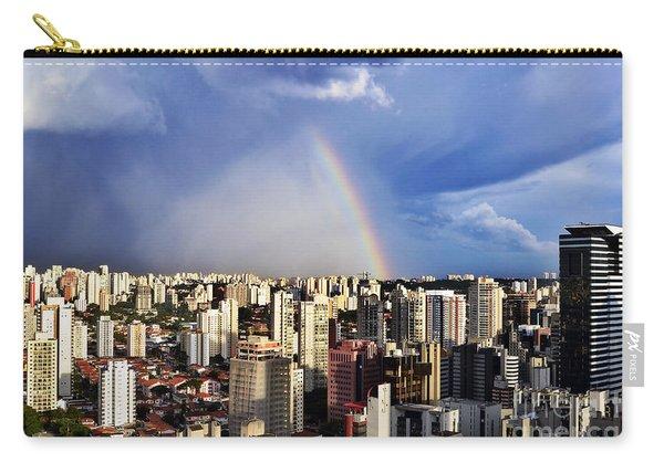 Rainbow Over City Skyline - Sao Paulo Carry-all Pouch