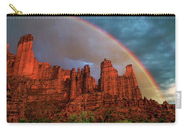 Rainbow Over Fisher Towers Carry-all Pouch