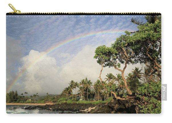 Rainbow Over The Beach Carry-all Pouch