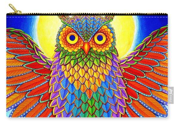Rainbow Owl Carry-all Pouch
