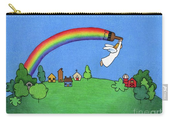 Rainbow Painter Carry-all Pouch