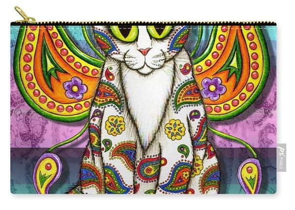Rainbow Paisley Fairy Cat Carry-all Pouch