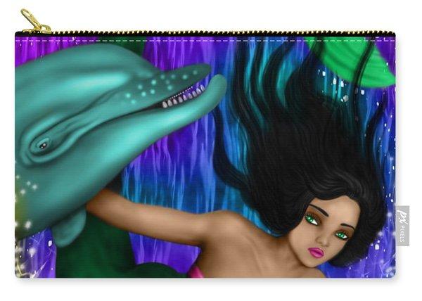 Rainbow Sea Mermaid - Fantasy Art Carry-all Pouch