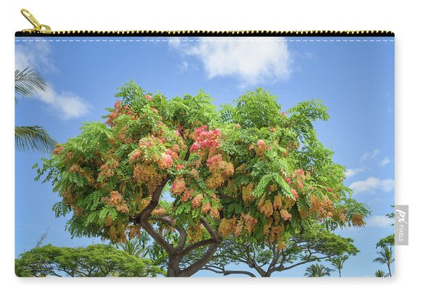 Carry-all Pouch featuring the photograph Rainbow Shower Tree 1 by Jim Thompson