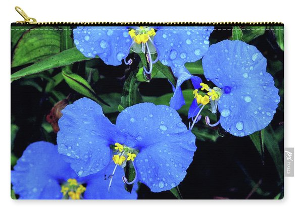 Raindrops In Blue Carry-all Pouch