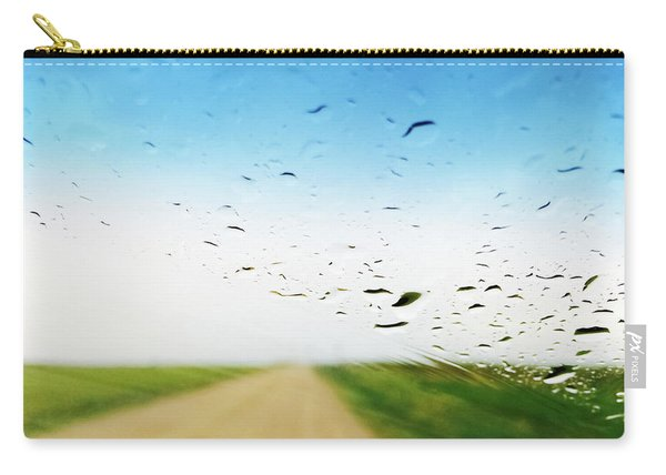 Raindrops On A Car Window Carry-all Pouch