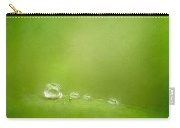 Raindrops On Green Carry-all Pouch
