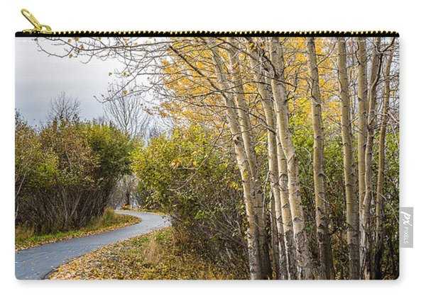 Carry-all Pouch featuring the photograph Rainy Autumn Walk by Tim Newton