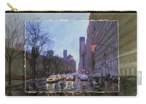 Rainy City Street Layered Carry-all Pouch