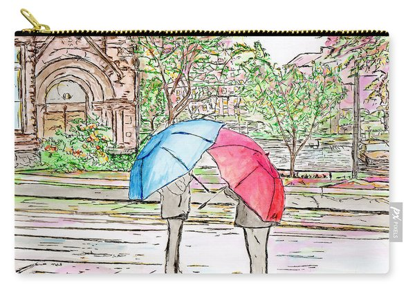 Rainy Day In Downtown Worcester, Ma Carry-all Pouch