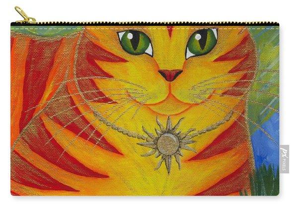 Rajah Golden Sun Cat Carry-all Pouch