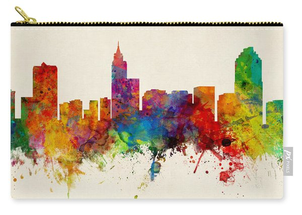 Raleigh North Carolina Skyline Panoramic Carry-all Pouch