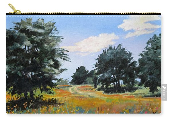 Ranch Road Near Bandera Texas Carry-all Pouch