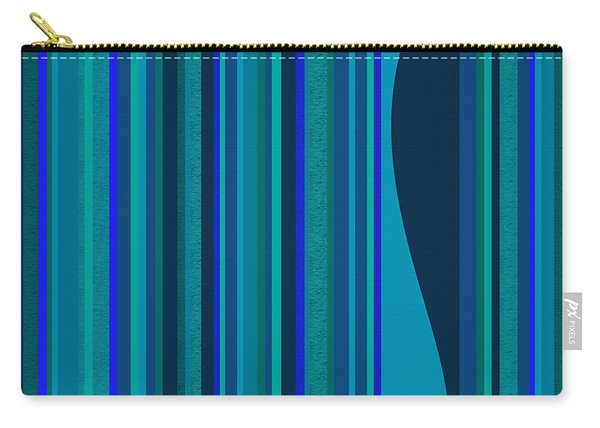 Random Stripes - Electric Blue Carry-all Pouch