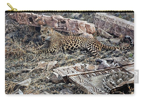 Carry-all Pouch featuring the painting Ranthambore Apparition by Alan M Hunt