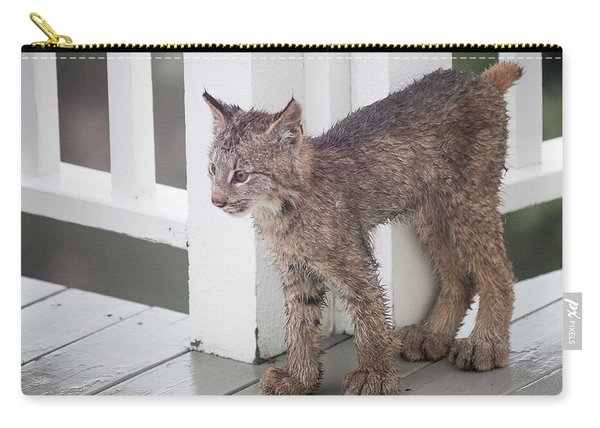 Carry-all Pouch featuring the photograph Laser Eyes Big Feet by Tim Newton