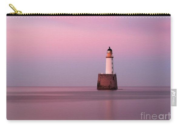 Rattray Head Lighthouse At Sunset - Pink Sunset Carry-all Pouch