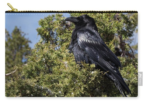 Raven In A Juniper At Bryce Carry-all Pouch