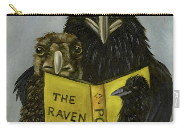 Ravens Read Carry-all Pouch