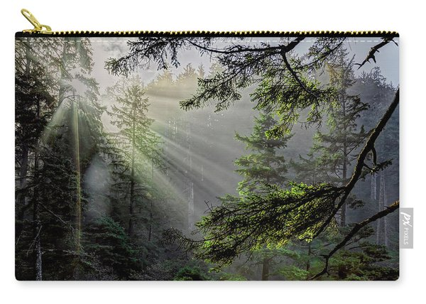 Morning Rays Through An Oregon Rain Forest Carry-all Pouch