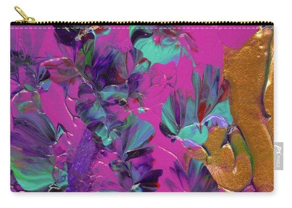 Razberry Ocean Of Butterflies Carry-all Pouch