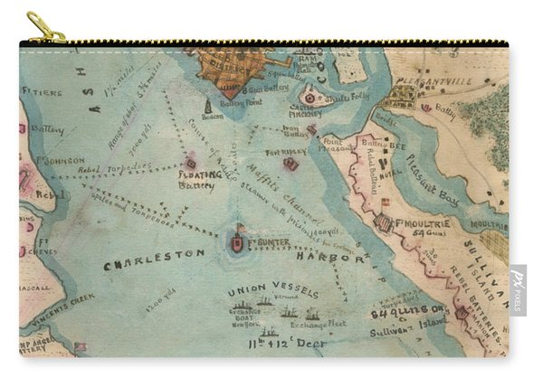 Rebel Defenses Of Charleston Harbor Carry-all Pouch