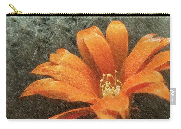 Rebutia Muscula Bright Orange Flower Carry-all Pouch