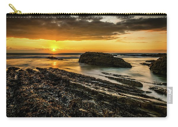 Carry-all Pouch featuring the photograph Receding Tide by Nick Bywater