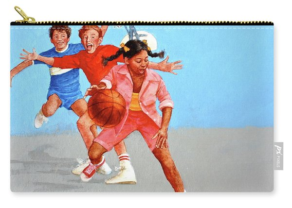 Carry-all Pouch featuring the painting Recess by Cliff Spohn