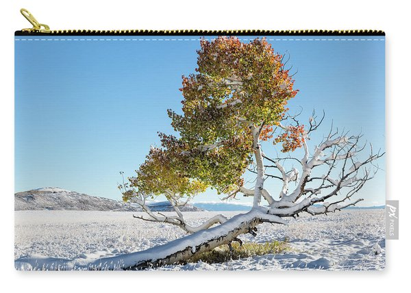 Reclining Tree With Snow Carry-all Pouch