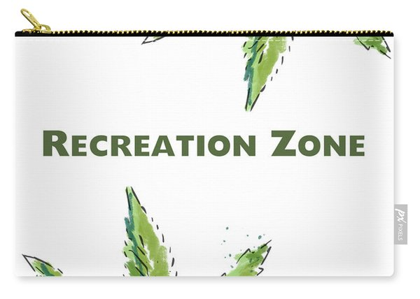 Recreation Zone Sign- Art By Linda Woods Carry-all Pouch