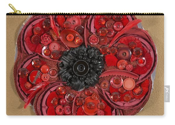 Recycled Poppy Carry-all Pouch