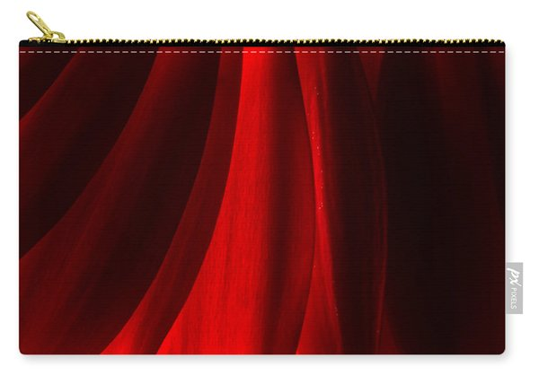 Red Abstract Of Chrysanthemum Wildflower Carry-all Pouch