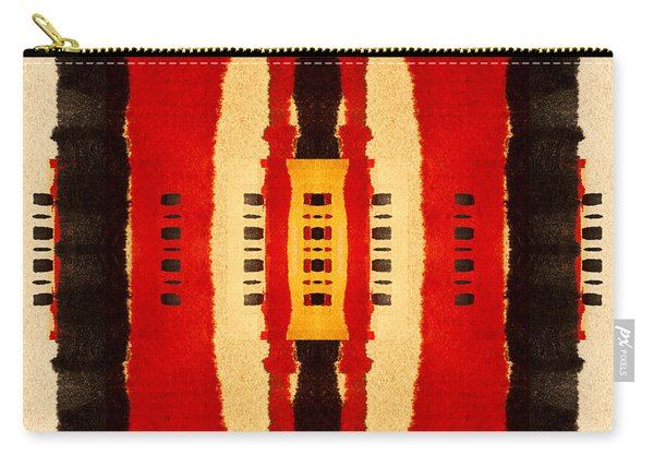 Red And Black Panel Number 4 Carry-all Pouch