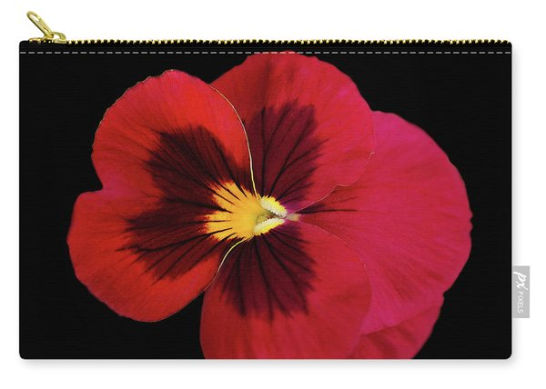 Red And Black Pansy Carry-all Pouch