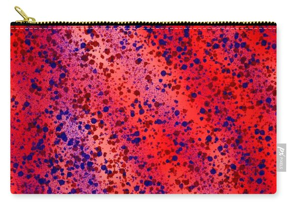 Red And Blue Splatter Abstract Carry-all Pouch
