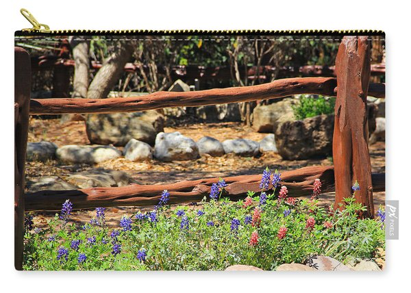Red And Bluebonnets Carry-all Pouch