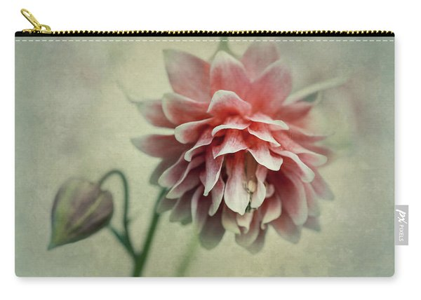 Carry-all Pouch featuring the photograph Red And Pink Columbine by Jaroslaw Blaminsky