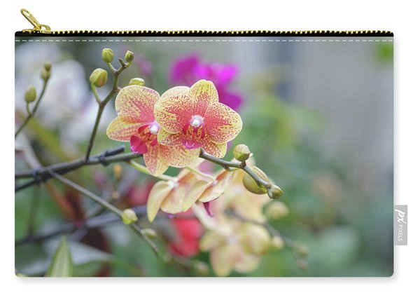 Carry-all Pouch featuring the photograph Red And Yellow Flower by Raphael Lopez