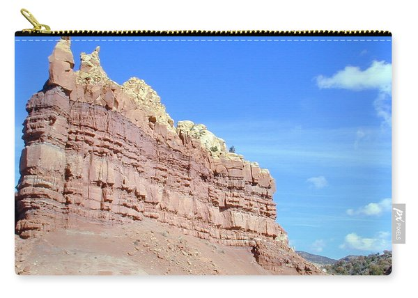 Carry-all Pouch featuring the photograph Red And Yellow Fortress Number 2 by Joseph R Luciano