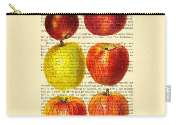 Red Apples Still Life Vintage Illustration Carry-all Pouch