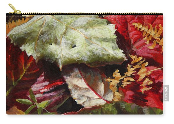Red Autumn - Wasilla Leaves Carry-all Pouch