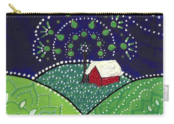 Red Barn At Night Carry-all Pouch