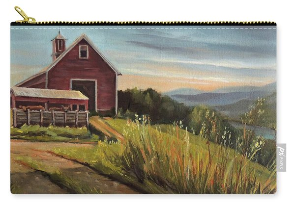Red Barn By The Connnecticut River Carry-all Pouch