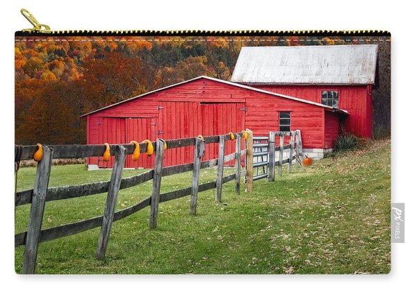Red Barn In Autumn - Carry-all Pouch