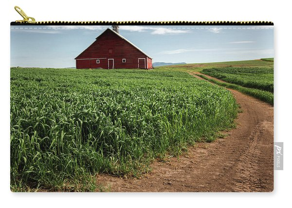 Red Barn In Green Field Carry-all Pouch